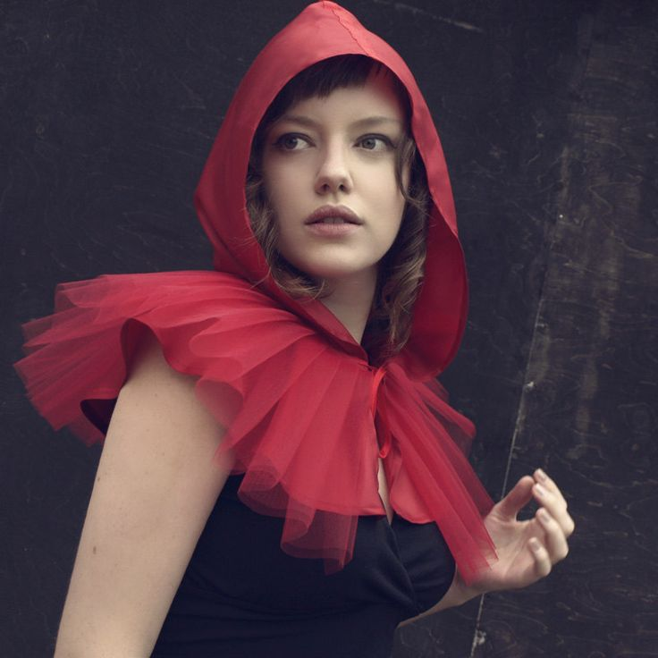 Express shipping. Little Red Riding Hood costume, red cape, adult halloween costume women - ready to ship. €72.00, via Etsy.