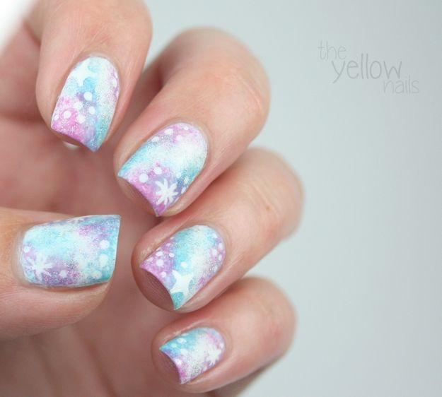 the Yellow Nails: 31 day nail challenge | Day 19: Galaxies