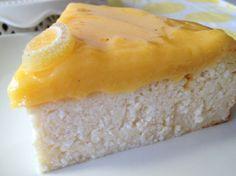 Tarta de requesón y crema de limón (lemon curd)