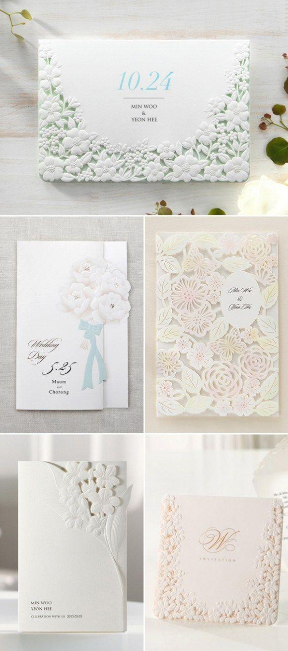 Undangan Pernikahan Hard Cover Floral 6 Bahan kertas ivory 260 gr - fresh invitation dalam bahasa inggris