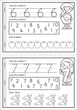 """MEGA Math & Literacy Worksheets & Activities - Down on the Farm. 100 Pages in total!! A page from the unit: """"Counting on the Farm"""" number booklet.:"""