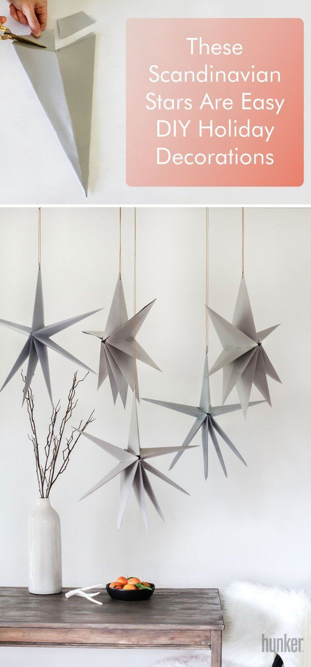 These Diy Scandinavian Stars Will Add A Touch Of Charm To Any Home Hunker Diy Holiday Decor Easy Diy Holiday Decorations Scandinavian Holidays