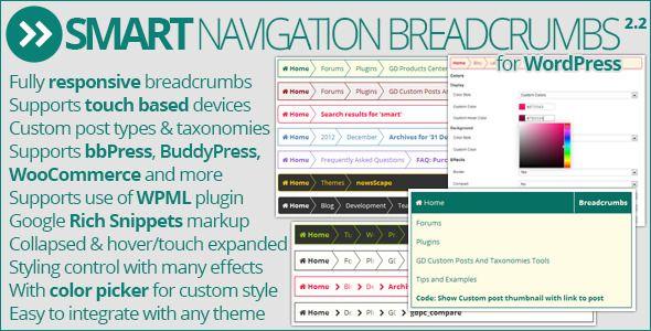 Smart Navigation Breadcrumbs Wordpress Premium Plugin