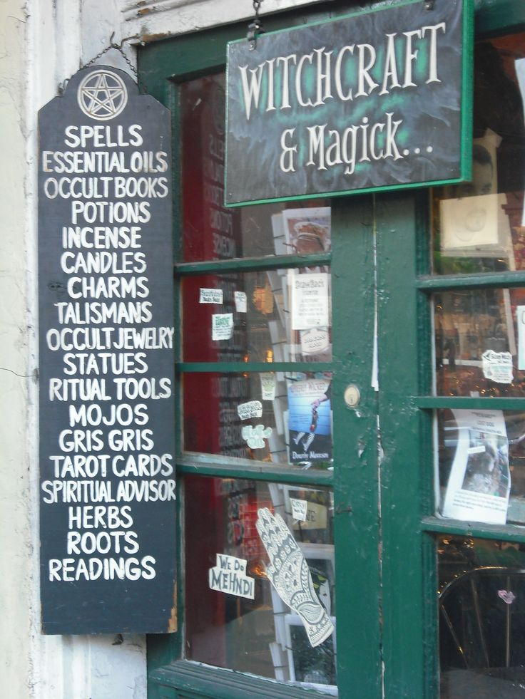 So much inspiration in this image of a Witchcraft shop in New Orleans...