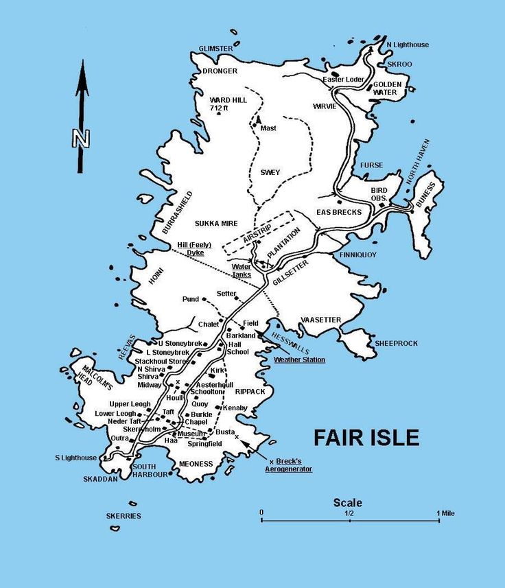 Shetland Islands, Fair Isle map. stayed there for two weeks, crofting :)