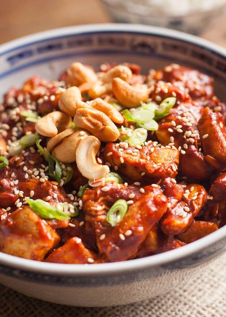 Plakkerige kip uit de Crock-Pot met cashewnoten-3