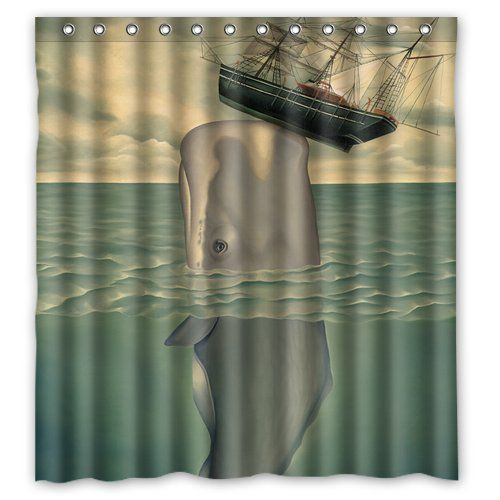 Generic Personalized Whales Wore Ship Pattern Sold By Too Amazing Shower Curtain Bath Decor 66
