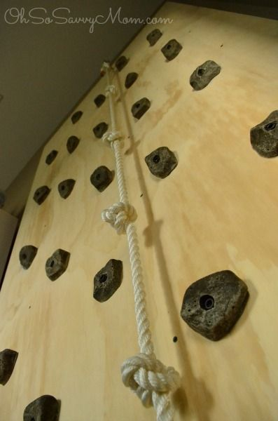 How to build a DIY Kids Climbing Wall!                                                                                                                                                                                 More