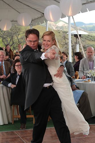 Dwight and Angela's first dance |