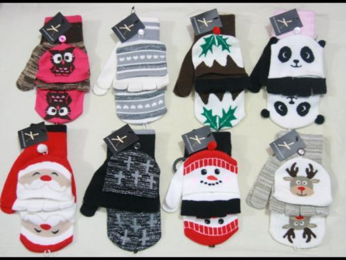 Ladies Christmas Novelty Fingerless Gloves-Mittens *BNWT* Xmas designs Primark | eBay
