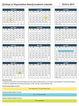 2016-2017 academic calendar                              …