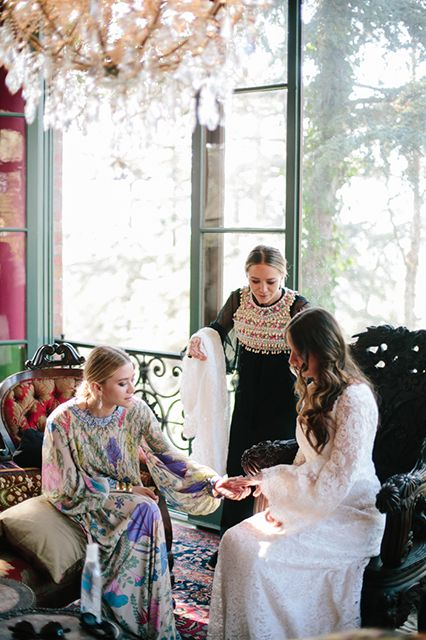 A Complete Look At The Wedding The Olsens Helped Make Possible #refinery29  http://www.refinery29.com/2014/07/72053/mary-kate-ashley-wedding-dress-molly-fishkin-asher-levin#slide6