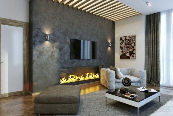 Cheminée moderne : 50 idées de décoration d'intérieur
