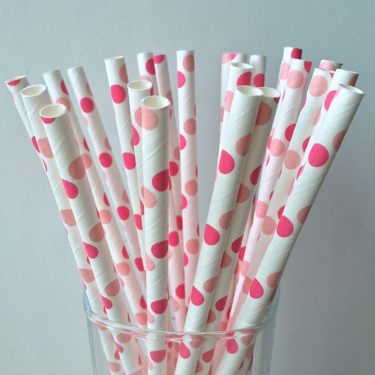 Livraison gratuite 25 pcs rose et rose pâle grande Polka Dot papier pailles de fête d'anniversaire de mariage décoration dans Accessoires de fêtes et d'évènement de Maison & Jardin sur AliExpress.com | Alibaba Group