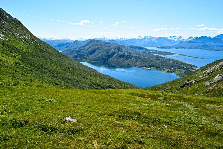 View back while hiking towards Sandhornet Mountain