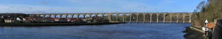 The Royal Border Bridge - Spanning the river Tweed the bridge is a vital connection in the East Coast Main Line from London to Edinburgh. Built 1847 -1850, by Robert Stephenson.