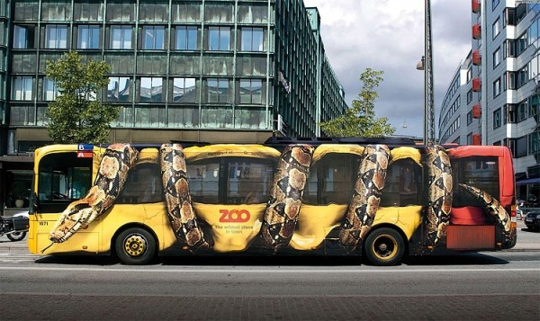Brilliant bus ad for a zoo.