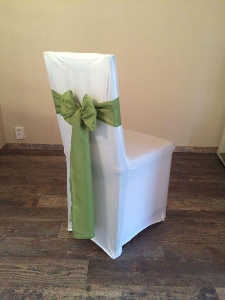 Bérelhető spandex székszoknya zöld színű selyem masnival Érd