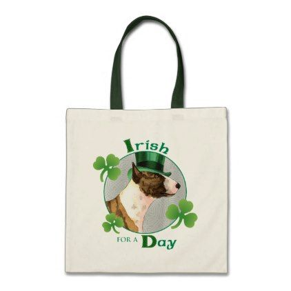 St. Patrick's Day Mini Bull Terrier Tote Bag - saint patricks day st patricks holiday ireland irsih special party