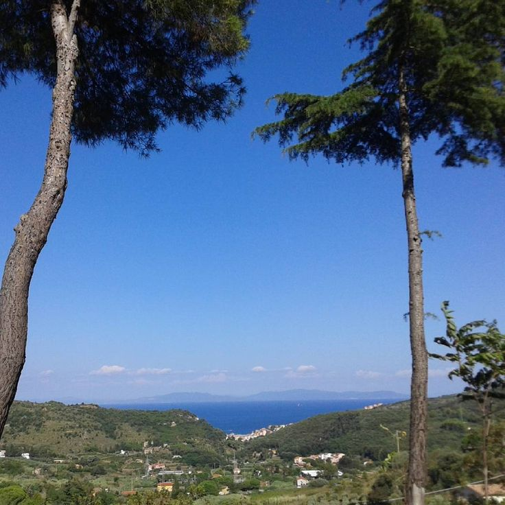 Veduta verso il mare, salendo verso il centro abitato di Rio nell'Elba