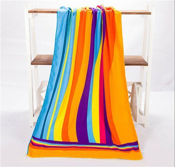 New 1pc 70*140cm Beach Towel Large Microfibre Fiber Beach Towel Bath Swimming Towel