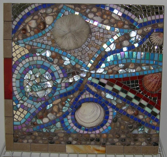 19 best images about seashell lesson on pinterest mosaic for Seashell mosaic art