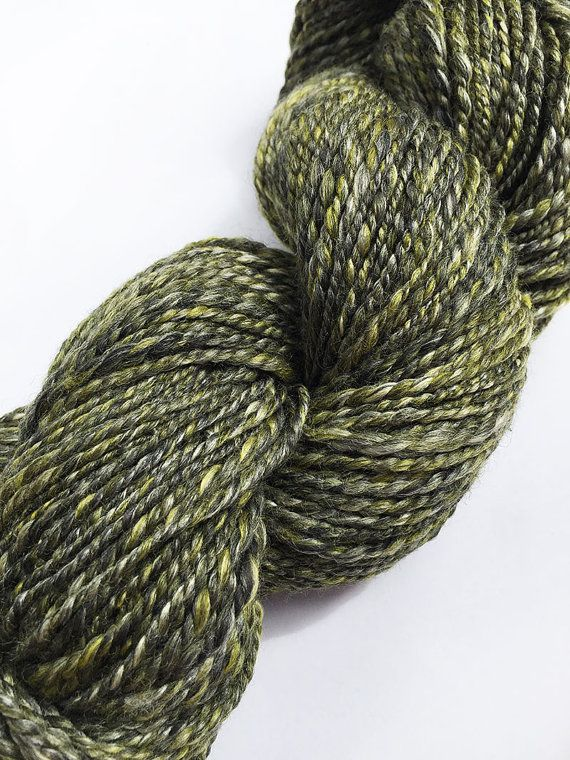 Handspun Yarn Merino Wool Bamboo and Soybean 2ply by ArtyThreads