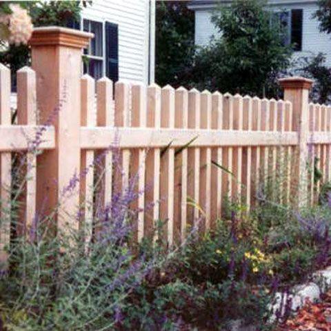 Victorian Picket Fence Designs Cedar Picket Fence