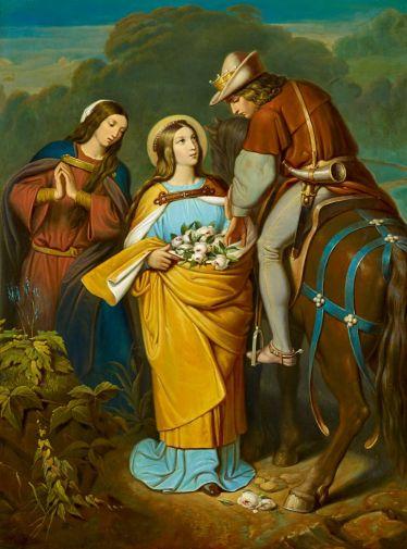 Schwind, Moritz von. Das Rosenwunder der Heiligen Elisabeth.