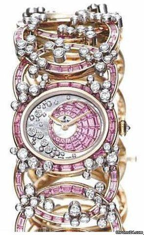 Audemars Piguet Millenary Precieuse Diamond and Pink Sapphire Rose Gold Ladies…