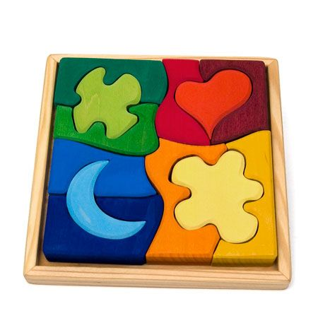 Wooden Puzzle Shapes | Natural Wooden Toys from Europe, German Christmas Decorations and Erzgebirge Folk Art at The Wooden Wagon - The Wooden Wagon