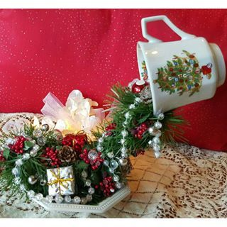 floating tea cup christmas - Google Search