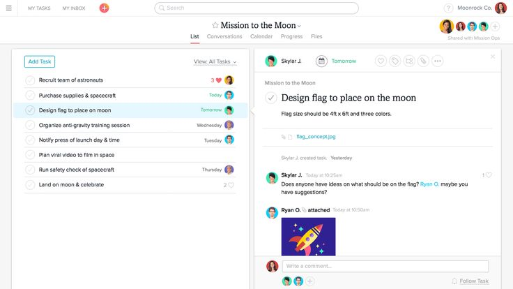 Asana is the ultimate task management tool. It allows teams to share, plan, organize, and track progress of the tasks that each member is working on. The tool had a complete made-over and seems even more Zen!