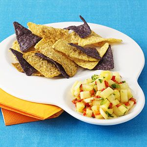 Rainbow Chips & Dip - Healthy snacking for the kiddos
