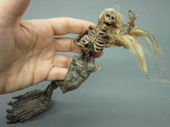 OOAK realistic dead Mermaid  Fantasy fairy by footstepsinthewind, $50.00