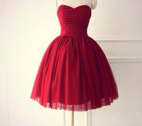 Handmade High Quality Ball Gown Knee Length Burgundy Prom Dresses, Ball Gown Prom Dresses, Short Pro on Luulla