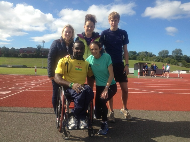 RtD para-athlete Raph with GB #Olympic athlete Jo Pavey before she heads to Portugal for further training with #TeamGB