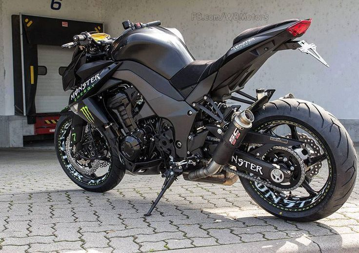 "Kawasaki Z 1000 ""Monster Energy""   Motorcycles   Pinterest ..."