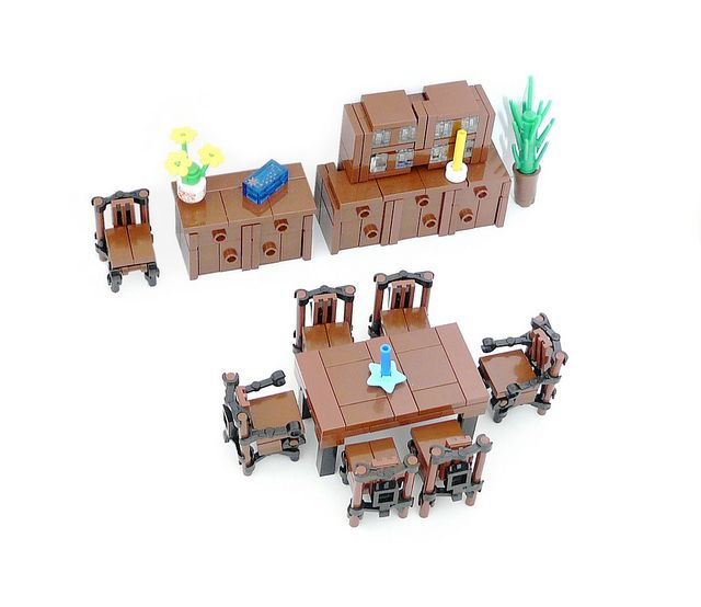 Cuusoo Project Furniture Dining Room 01 Lego Legos And