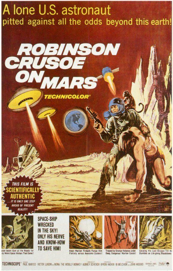 Robinson Crusoe on Mars 11x17 Movie Poster (1964)