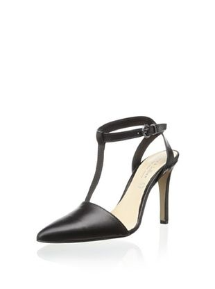 56% OFF Lara and Lillian Women's Susan T-Strap Closed Toe Pump (Black)