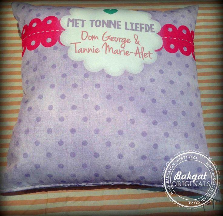 Personalised cushion