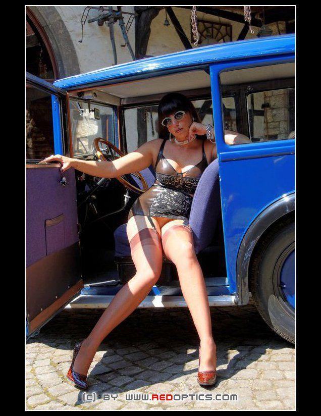 Stella van Gent in vintage nylon stockings