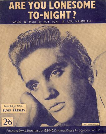 Are You Lonesome Tonight - Elvis Presley free piano sheet music and downloadable PDF.