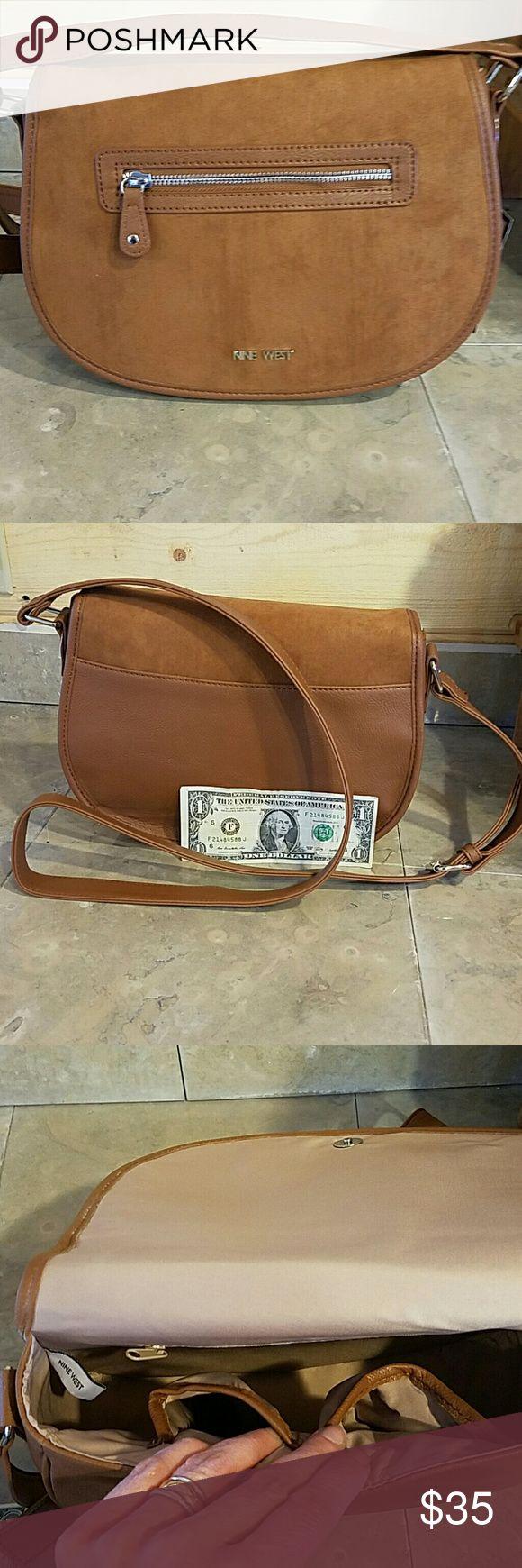 Nine West saddle bag purse Classic Brown saddle bag style Nine West Purse Nine West Bags Crossbody Bags