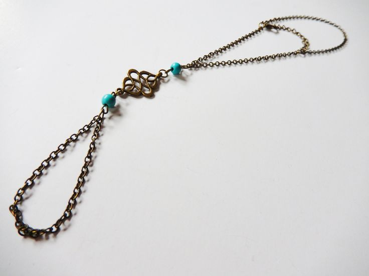 "One Piece ""Indian"" Anklet / Toe Turquoise Chain Bracelet"