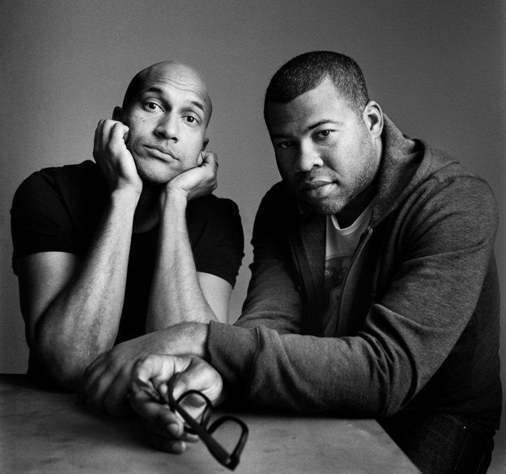 """Key and Peele, comedy duo, who switch the """"race card"""" for something like the whole pack fanned out."""