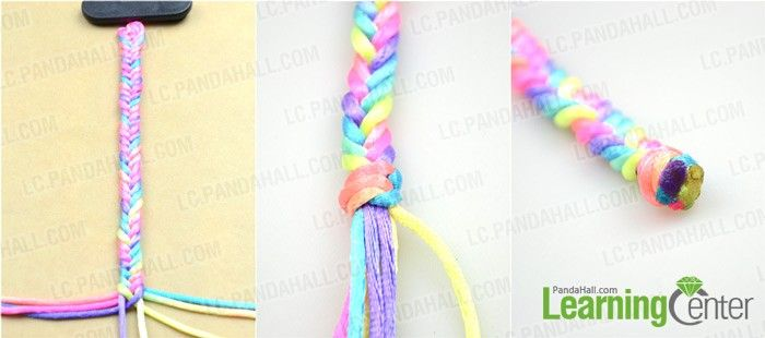 How to make easy rainbow string bracelet quickly in five for Stuff to make with string