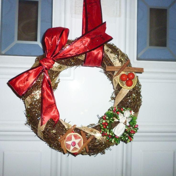 Christmas door decoration--handmade--
