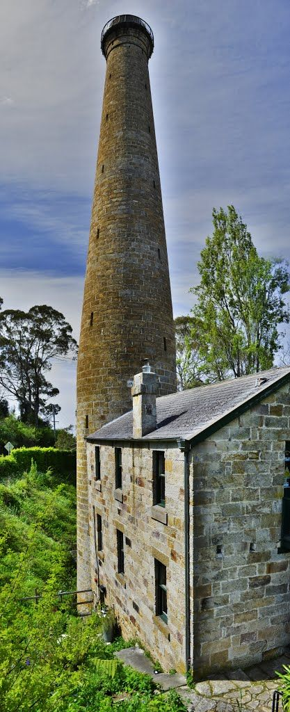 Shot Tower just south of Taroona is one of the State's most unique historic buildings. Lead shot was made by dropping molten lead through a sieve at the top of the tower and by the time it hit the water at the bottom it was cold and spherical in shape. A climb up the 259 steps to the top of the tower gives a wonderful view of the Derwent Estuary. Taroona is 15 mins. from Hobart, Tasmania, Australia.